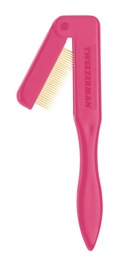 Tweezerman Pink Folding Eyelash Comb